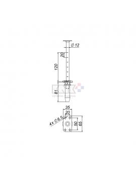 Príborník 440 pre max. sv.hĺbku zásuvky 440mm
